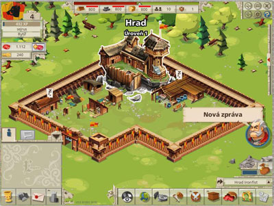 Goodgame Empire Hrad level1